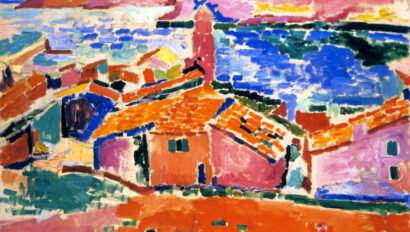 View of Collioure painting.