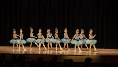 Ballet performance on stage.