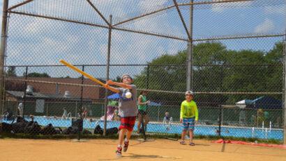 Boys playing baseball.