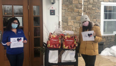 Care food donation at a house.