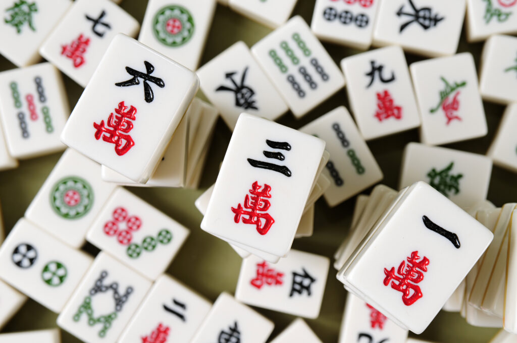 Chinese tile game.