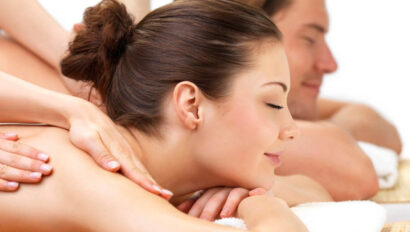 Couple getting a massage.