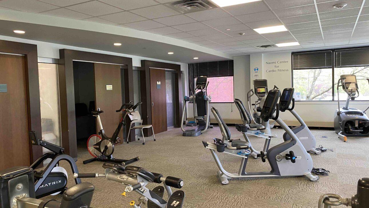 Fitness center equipment.