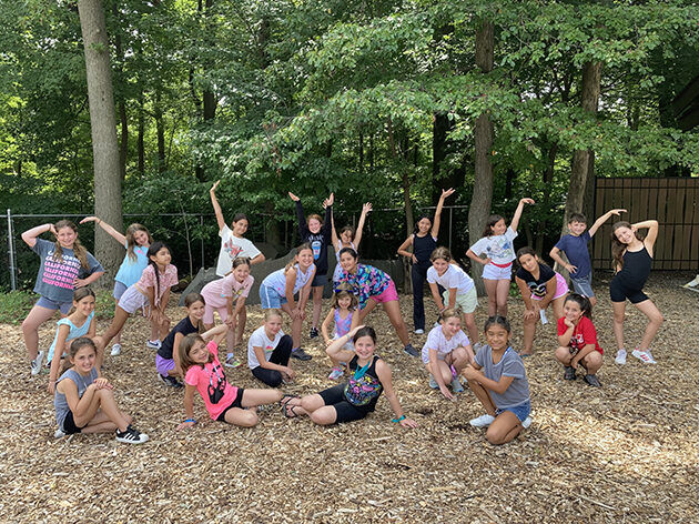 Girls practicing a ballet routine using the barre.