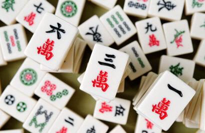 Mahjong tiles.
