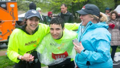 Three adults just finishing the Rubin Run.