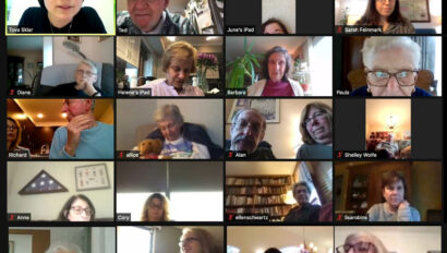 Seniors on a zoom call.