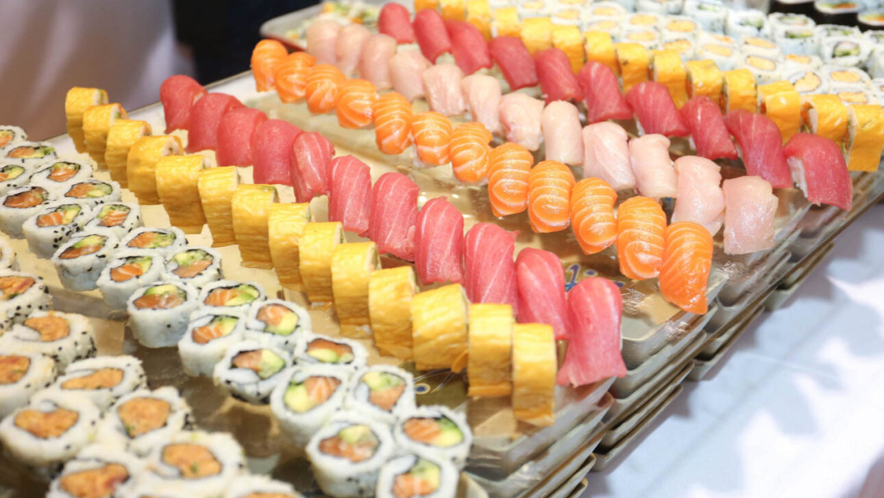 table of sushi.