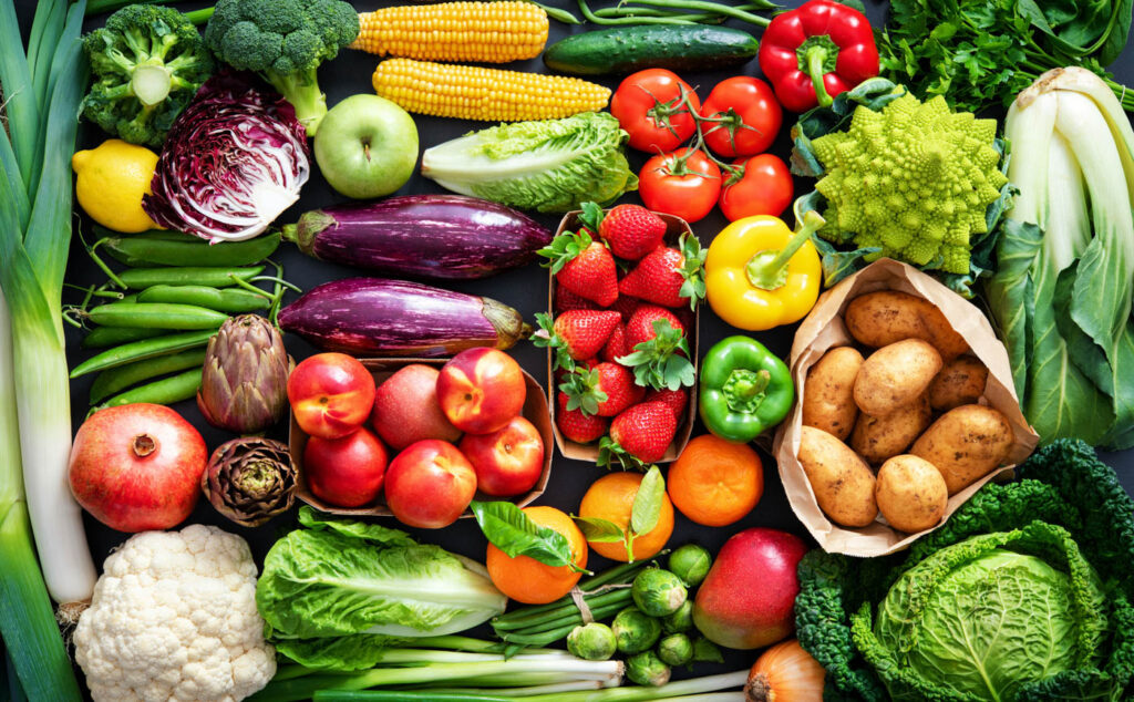 Colorful assortment of vegetables